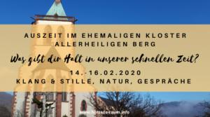 Auszeit im Kloster Allerheiligenberg